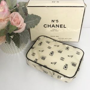 Chanel Vintage Travel Toiletry Bag with Box